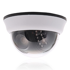 | 1200TVL CMOS 22IR Cut 3.6mm Lens Dome CCTV Security Camera Night Vision (White) (Intl)