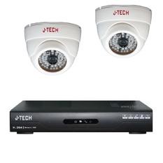 | Bộ 2 Camera J-Tech AHD3205 và Đầu ghi hình J-Tech AHD8004
