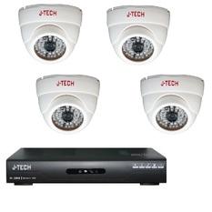 | Bộ 4 Camera AHD J-Tech AHD3205 và Đầu ghi hình AHD J-Tech AHD8004