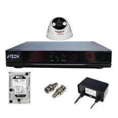 | Bộ camera AHD J-Tech 3205 ( 01 Camera + 01 Đầu ghi hình 4 kênh + 01 Ổ cứng 250Gb)