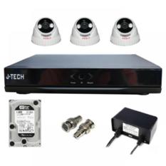 | Bộ camera AHD J-Tech 3205 (03 Camera + 01 Đầu ghi 4CH + Ổ cứng HHD 500Gb)