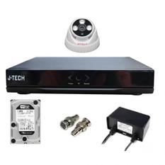 | Bộ camera AHD J-Tech 3206 (01 camera + 01 đầu ghi 4CH + 01 HDD 250GB)