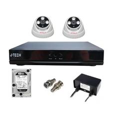 | Bộ camera AHD J-Tech 3206 (02 camera + 01 đầu ghi 4CH + 01 HDD 250GB)