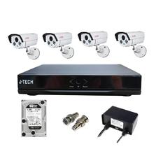 | Bộ camera AHD J-Tech 5600 (04 Camera + 01 Đầu ghi 4 kênh + 01 HDD 500 Gb)