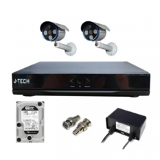 | Bộ camera AHD J-Tech 5602 (2 camera + 1 Đầu ghi 4CH + 1 HDD 250Gb)