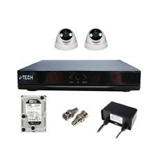 | Bộ camera IP J-Tech 3205 (02 Camera + 01 Đầu ghi 4CH +Ổ cứng HDD 250Gb)