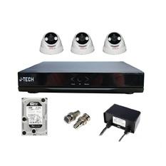 | Bộ camera IP J-Tech 3205 (03 Camera + 01 Đầu ghi 4CH + Ổ cứng HHD 500Gb)