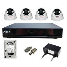 | Bộ camera IP J-Tech 3205 (04 camera + 01 đầu ghi 4CH + 01 HDD 500GB)
