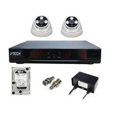 | Bộ camera IP J-Tech 3206 (02 camera + 01 đầu ghi 4CH + 01 HDD 250GB)
