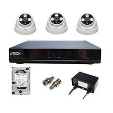 | Bộ camera IP J-Tech 3206 (03 camera + 01 đầu ghi 4CH + 01 HDD 500GB)