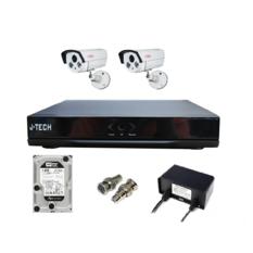 | Bộ camera IP J-Tech 5600 (2 camera + 1 đầu ghi 4CH + 1HDD 250GB)
