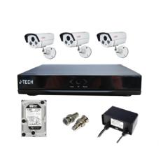 | Bộ camera IP J-Tech 5600 (3 camera + 1 đầu ghi 4CH + 1 HDD 500Gb)