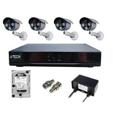 | Bộ camera IP J-Tech 5602 (04 camera + 01 đầu ghi 4CH + 01 HDD 500GB)