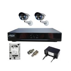 | Bộ camera IP J-Tech 5602 (2 camera + 1 Đầu ghi IP 4CH + 1 HDD 250Gb)