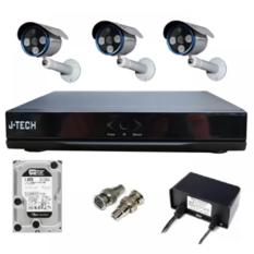 | Bộ camera IP J-Tech 5602 (3 camera + 1 Đầu ghi IP 4CH + 1HDD 500GB)