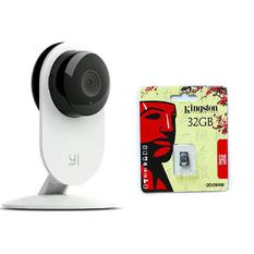 | Bộ Camera IP thông minh Xiaomi Yi HD 720P (Bản đêm) và Thẻ nhớ Micro SDHC 32GB