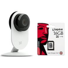 | Bộ Camera IP thông minh Xiaomi Yi HD 720P (Bản đêm) và Thẻ nhớ Micro SDHC 16GB