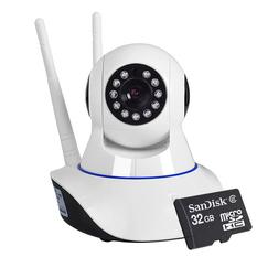 | Bộ Camera Smart IP Wifi ROBO 2 ANTEN (Trắng) và thẻ nhớ 32GB
