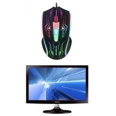 | Bộ Màn hình máy tính LED Samsung 18.5inch HD – Model S19D300NY và Chuột quang game thủ có dây MotoSpeed F405 Led 7 Màu (Đen)