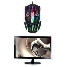 | Bộ Màn hình máy tính LED Samsung 19.5inch HD – Model S20D300NH (Đen) và Chuột quang game thủ có dây MotoSpeed F405 Led 7 Màu (Đen)