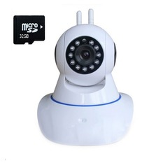 | Camera IP giám sát và báo động Vinatech IPC-W3A  + 1 thẻ nhớ 32GB (Trắng)