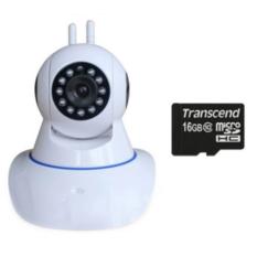 | Camera IP giám sát và báo động Vinatech IPC-W3A và 1 thẻ nhớ 16GB (Trắng)
