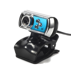 | HD 12.0 MP 3 LED USB Webcam (Blue) (Intl)