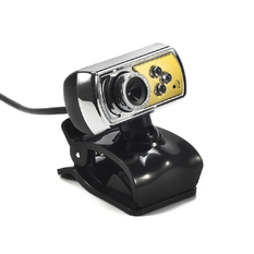 | HD 12.0 MP 3 LED USB Webcam (Yellow) (Intl)