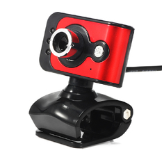 | HD Webcam 3 LED Built-in MIC (Red) (Intl)