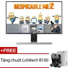 | Màn hình vi tính LED Samsung 23.6inch Full HD – Model LS24D590PL/XV (Đen) + Tặng 1 chuột Lohitech B100