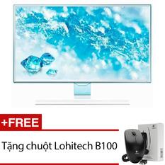 | Màn hình vi tính LED Samsung 23.6inch Full HD – Model LS24E360HL/XV(Trắng) + Tặng 1 chuột Lohitech B100