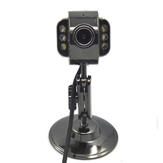 | Metal 6 LED Free Driver USB Webcam Laptop PC Computer Camera with Microphone (Intl)