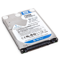 | Ổ cứng cho laptop HDD Western Digital WD 750GB (xanh)