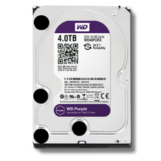 | Ổ cứng HDD Western 4TB 3.5 inch Sata (WD40PURX) (Đen)