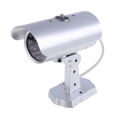 | Quality Fake Dummy CCTV Security Camera Flashing LED Indoor Outdoor Silver (Intl)
