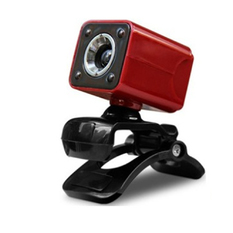 | USB 2.0 1080P 12MP 4LED HD Webcam Red (Intl)