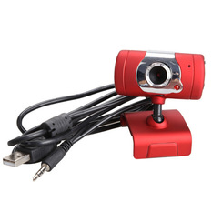 | USB 2.0 30M Video Webcam Web Camera with Microphone for Desktop PC Laptop (Red) (Intl)
