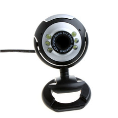 | USB 6 LED Video Camera With Mic (Black) (Intl)