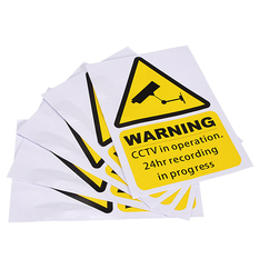 | Window Warning Stickers Signs Decal CCTV In Operation Security Camera Home set of 5 (Intl)